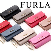 FURLA Plain Leather Keychains & Bag Charms