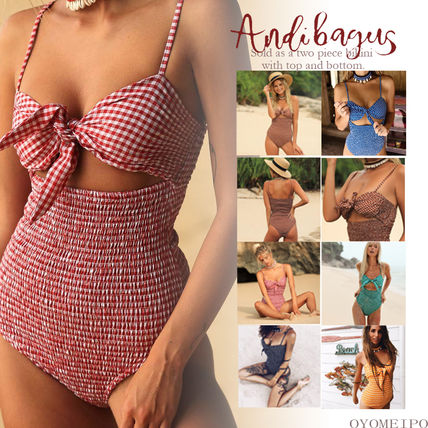 Gingham Dots Beachwear