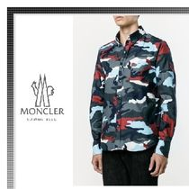 MONCLER Camouflage Long Sleeves Cotton Shirts