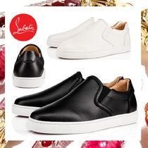 Christian Louboutin Street Style Plain Leather Loafers & Slip-ons