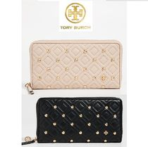 Tory Burch Plain Leather Long Wallets