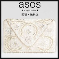 ASOS Flower Patterns 2WAY Party Style With Jewels Clutches