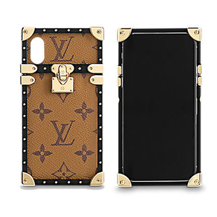 uk availability e4cca 57493 Louis Vuitton 2018 SS 18SS EYE TRUNK IPHONE X Monoglam Leather Smart Phone  Cases (M62618, M62619)