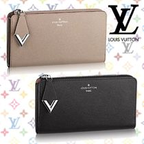 Louis Vuitton PORTEFEUILLE COMETE Plain Leather Long Wallets