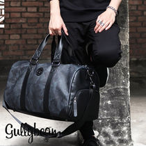 Street Style A4 PVC Clothing Boston Bags