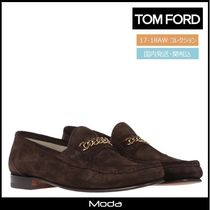 TOM FORD Loafers Suede Chain Plain U Tips Loafers & Slip-ons