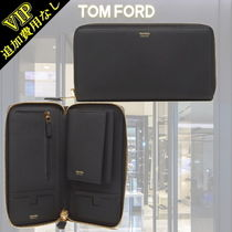 TOM FORD Calfskin Plain Long Wallets