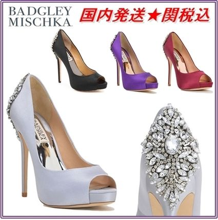 Open Toe Pin Heels Party Style With Jewels Shoes