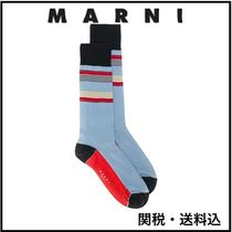 MARNI Blended Fabrics Street Style Cotton Socks & Tights
