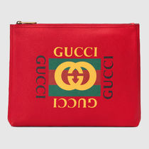 GUCCI A4 Leather Clutches