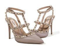 VALENTINO Studded Leather High Heel Pumps & Mules