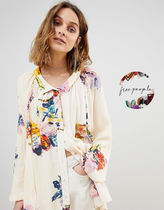 Free People Flower Patterns Casual Style Long Sleeves Shirts & Blouses