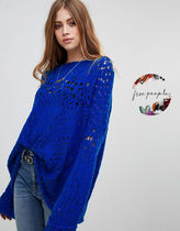 Free People Casual Style Long Sleeves Oversized Sweaters