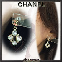 CHANEL ICON Costume Jewelry Blended Fabrics With Jewels Elegant Style