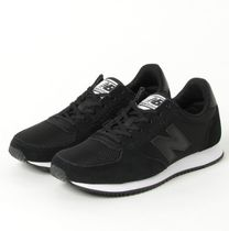 New Balance Rubber Sole Casual Style Suede Street Style Plain