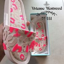 Vivienne Westwood Leopard Patterns Casual Style Collaboration Shower Shoes