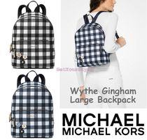 a6d175c7c04838 Michael Kors 2018 SS USA Limited Item [Michael Kors] Wythe Gingham Backpack  Large by GetYourStyle - BUYMA