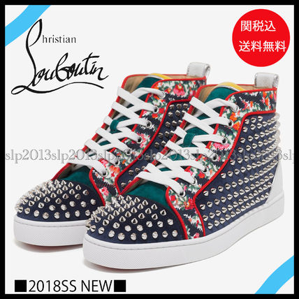 new product a86e8 230c2 Christian Louboutin LOUIS 2018 SS Blended Fabrics Leather Sneakers