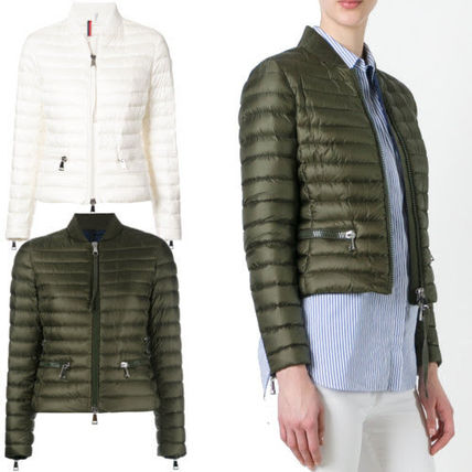 MONCLER Down Jackets Short Casual Style Plain Down Jackets ...