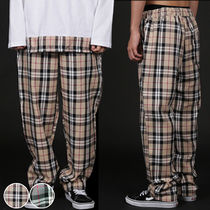 Slax Pants Gingham Unisex Oversized Slacks Pants