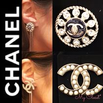 CHANEL ICON Costume Jewelry Blended Fabrics Street Style With Jewels
