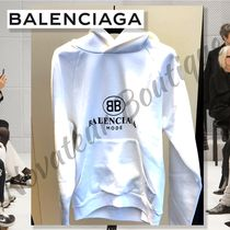 BALENCIAGA Pullovers Street Style Long Sleeves Cotton Hoodies