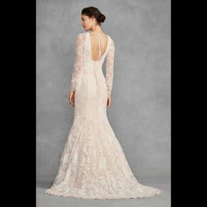 Vera Wedding Dresses V Neck Long Sleeves Lace 3