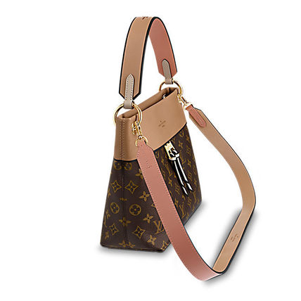 Louis Vuitton Shoulder Bags Monogram Casual Style Canvas Blended Fabrics 2WAY 3