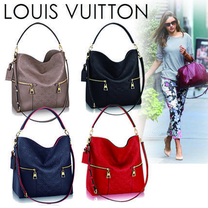 Louis Vuitton Shoulder Bags Monogram Casual Style Blended Fabrics A4 2WAY Leather