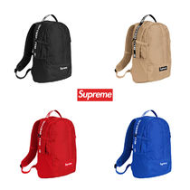 Supreme Unisex Nylon Street Style Backpacks
