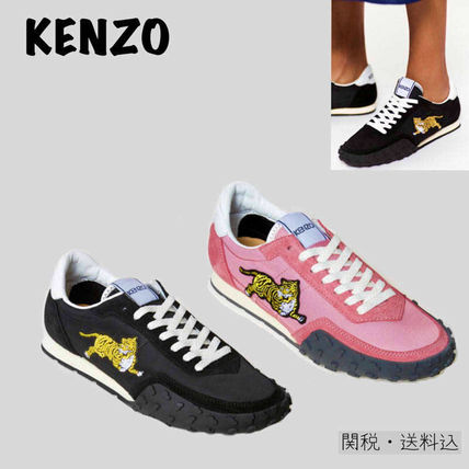 Rubber Sole Lace-up Casual Style Unisex Street Style