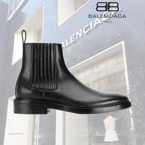 BALENCIAGA Plain Toe Plain Leather Boots