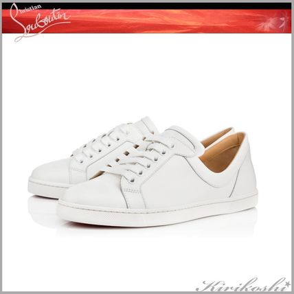 a9acc628a551 ... Christian Louboutin Low-Top Casual Style Plain Leather Low-Top Sneakers  ...