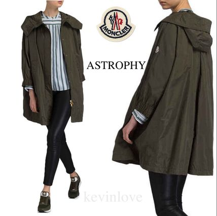 Casual Style Plain Medium Khaki Parkas