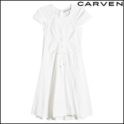 Casual Style Plain Cotton Dresses