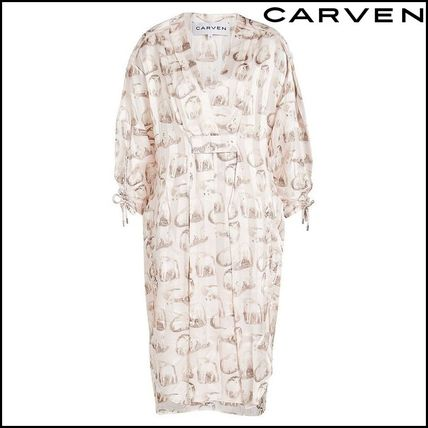 Casual Style Silk Dresses