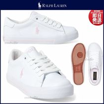 Ralph Lauren Round Toe Casual Style Faux Fur Low-Top Sneakers