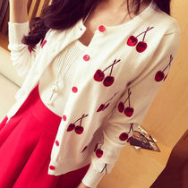 Tropical Patterns Casual Style Long Sleeves Medium Cardigans