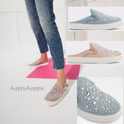 With Jewels Slip-On Shoes