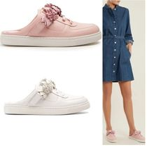SOPHIA WEBSTER Flower Patterns Casual Style Plain Leather Low-Top Sneakers