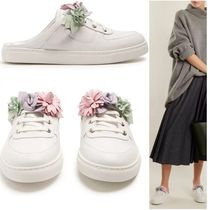 SOPHIA WEBSTER Flower Patterns Round Toe Rubber Sole Lace-up Casual Style