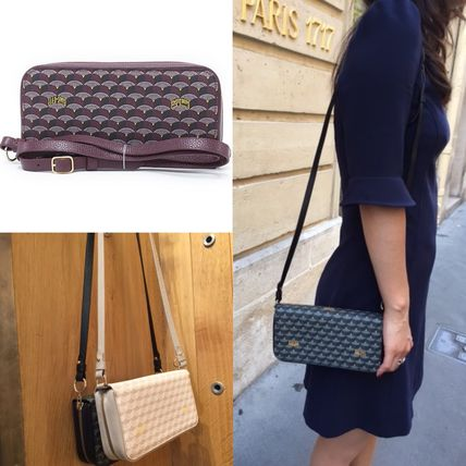 Faure Le Page Chasse Gardee Clutch Pochette Wallet with long