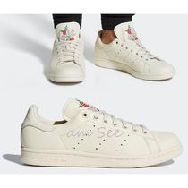 adidas STAN SMITH Flower Patterns Unisex Street Style Plain Leather Sneakers