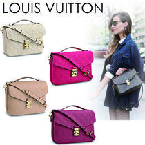 Louis Vuitton MONOGRAM EMPREINTE Monogram 2WAY Plain Leather Elegant Style Shoulder Bags