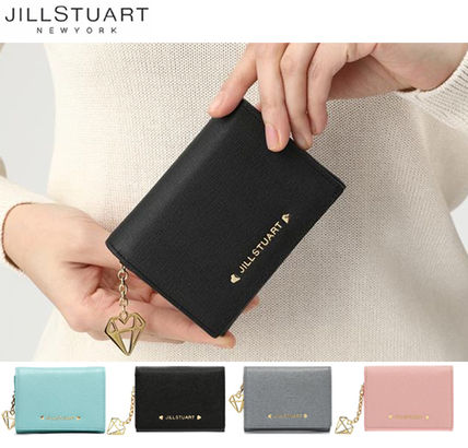 Street Style Plain Leather Folding Wallets