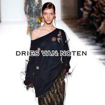 Dries Van Noten Cotton Elegant Style Bandeau & Off the Shoulder
