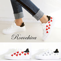 Heart Star Lace-up Casual Style Blended Fabrics
