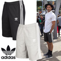 adidas Sweat Street Style Bi-color Plain Joggers Shorts