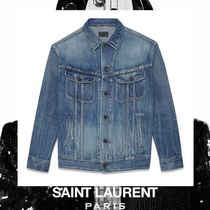 Saint Laurent Casual Style Street Style Plain Medium Jackets