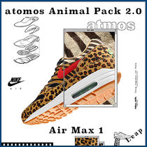 Nike AIR MAX 1 Street Style Collaboration Other Animal Patterns Sneakers